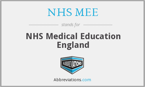 What does NHS MEE stand for?