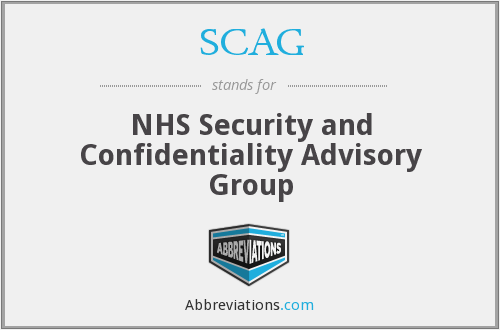 SCAG - NHS Security and Confidentiality Advisory Group