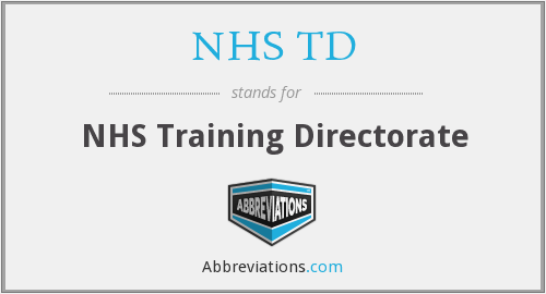 What does NHS TD stand for?