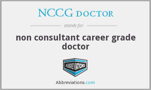 What does NCCG DOCTOR stand for?
