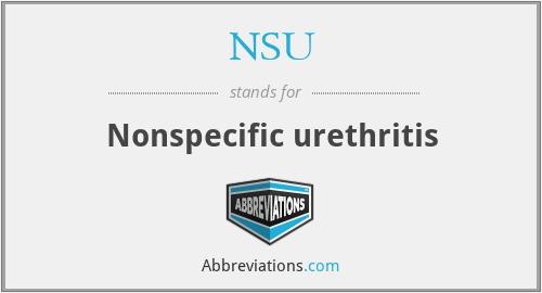 NSU - Nonspecific urethritis