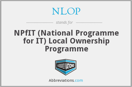 What does NLOP stand for?