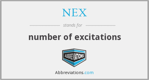 NEX - number of excitations