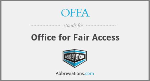OFFA - Office for Fair Access