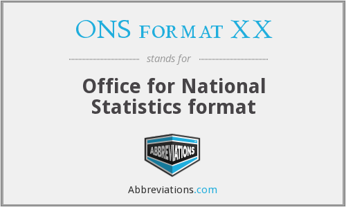 What does ONS FORMAT XX stand for?