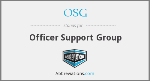 OSG - officer support group