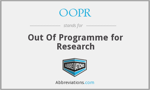 What does OOPR stand for?