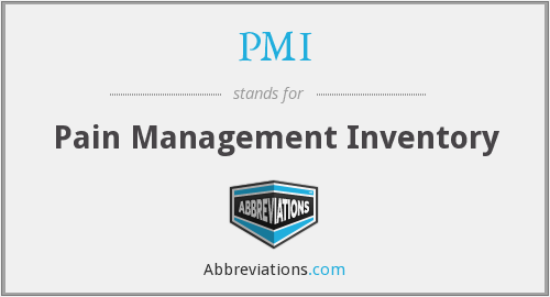 PMI - Pain Management Inventory