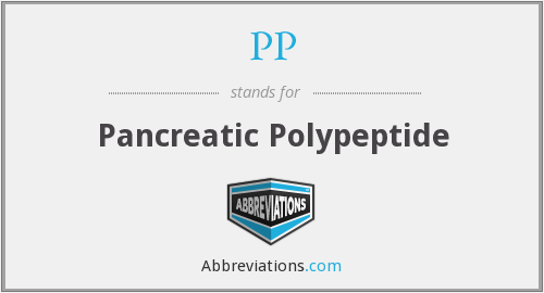 PP - pancreatic polypeptide