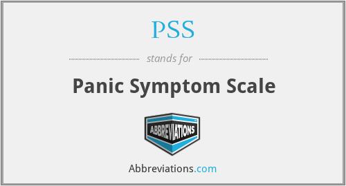PSS - Panic Symptom Scale