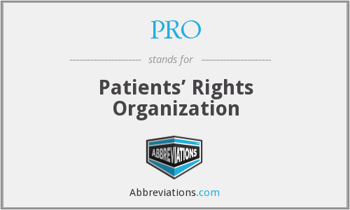 PRO - patients' rights organisation