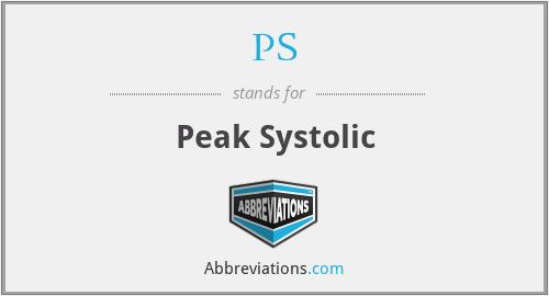 PS - Peak Systolic