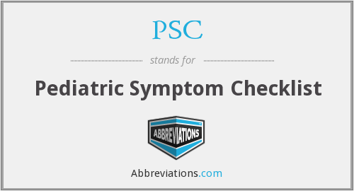 PSC - Pediatric Symptom Checklist