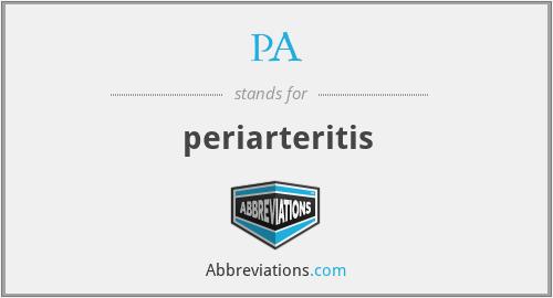 PA - periarteritis