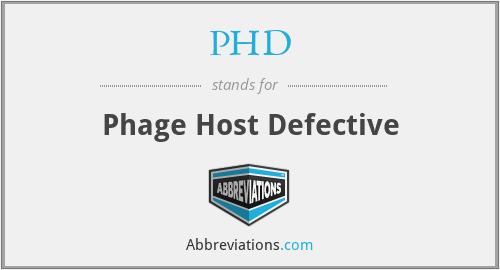 PHD - Phage Host Defective