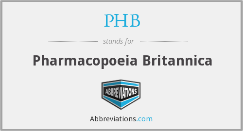 PHB - Pharmacopoeia Britannica