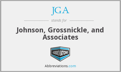 JGA - Johnson, Grossnickle, and Associates