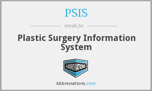 PSIS - Plastic Surgery Information System