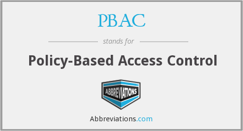 PBAC - policy-based access control