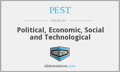PEST - political, economic, social and technological