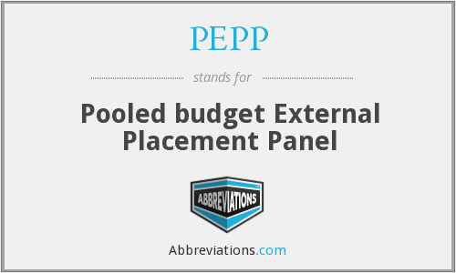 PEPP - Pooled budget External Placement Panel