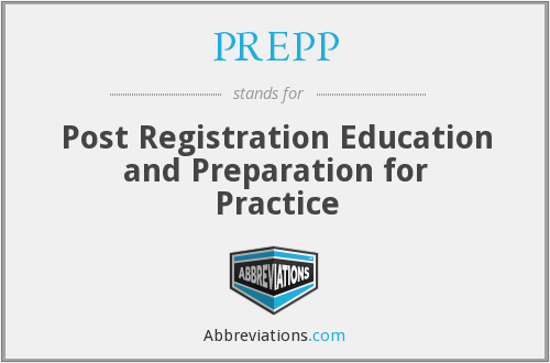 PREPP - Post Registration Education and Preparation for Practice