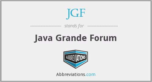 What does JGF stand for?