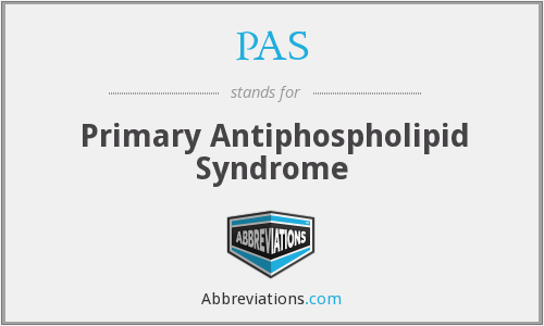PAS - primary antiphospholipid syndrome