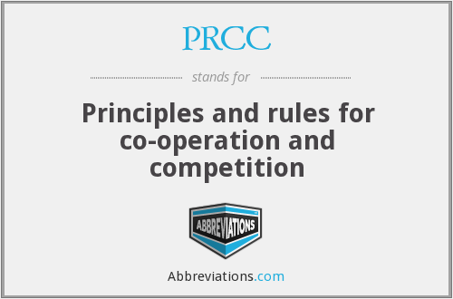 PRCC - Principles and rules for co-operation and competition