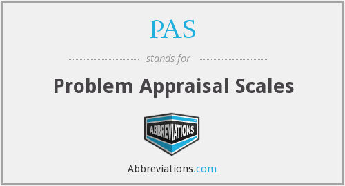 PAS - problem appraisal scales