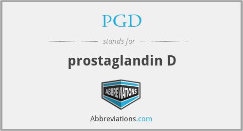 PGD - prostaglandin D