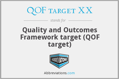QOF target XX - Quality and Outcomes Framework target (QOF target)