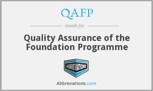 QAFP - Quality Assurance of the Foundation Programme