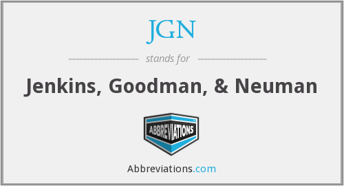 What does JGN stand for?