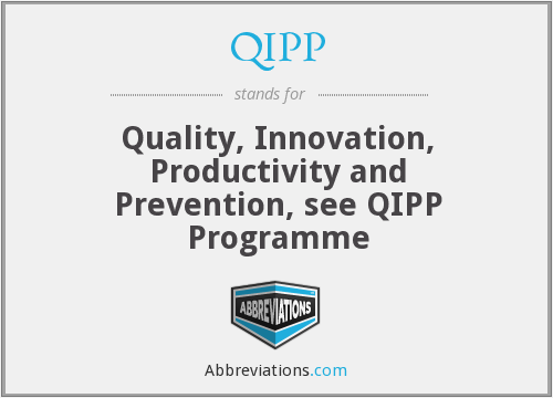 What does QIPP stand for?