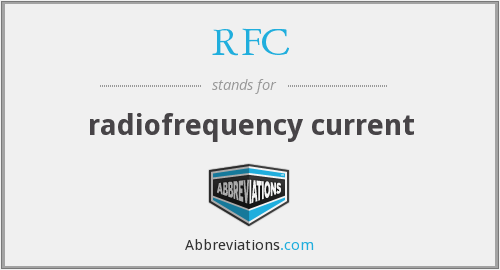 RFC - radiofrequency current