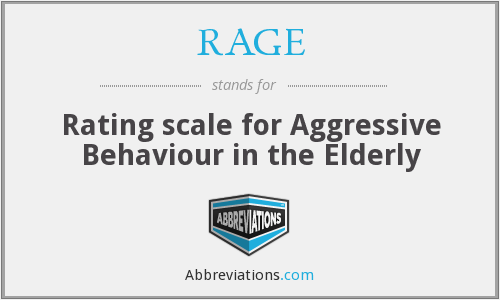 RAGE - Rating scale for Aggressive Behaviour in the Elderly