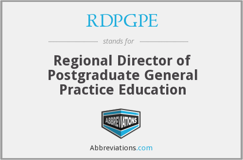 What does RDPGPE stand for?