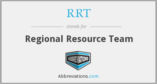 RRT - Regional Resource Team
