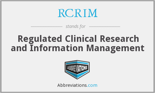 What does RCRIM stand for?