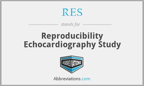 RES - Reproducibility Echocardiography Study