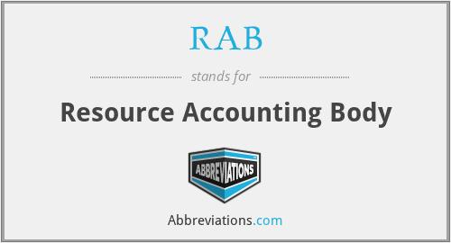 RAB - Resource Accounting Body