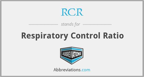 RCR - Respiratory Control Ratio