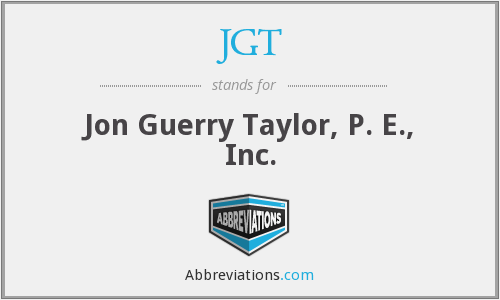 JGT - Jon Guerry Taylor, P. E., Inc.