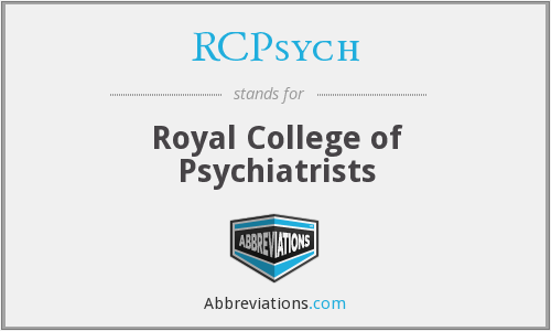 What does RCPSYCH stand for?