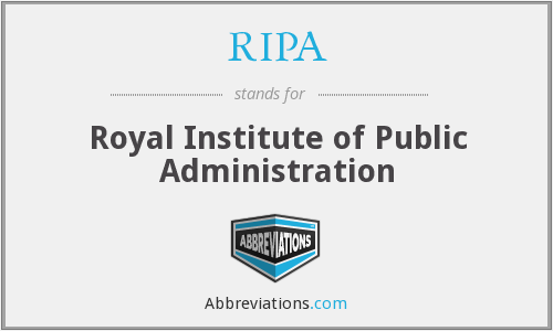 RIPA - Royal Institute of Public Administration