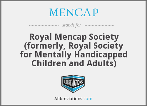 What does MENCAP stand for?