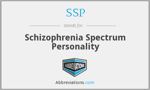 SSP - Schizophrenia Spectrum Personality