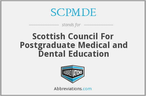 SCPMDE - Scottish Council For Postgraduate Medical and Dental Education