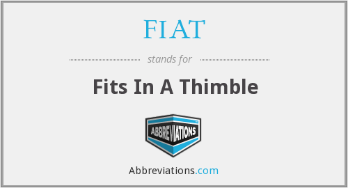 FIAT - Fits In A Thimble